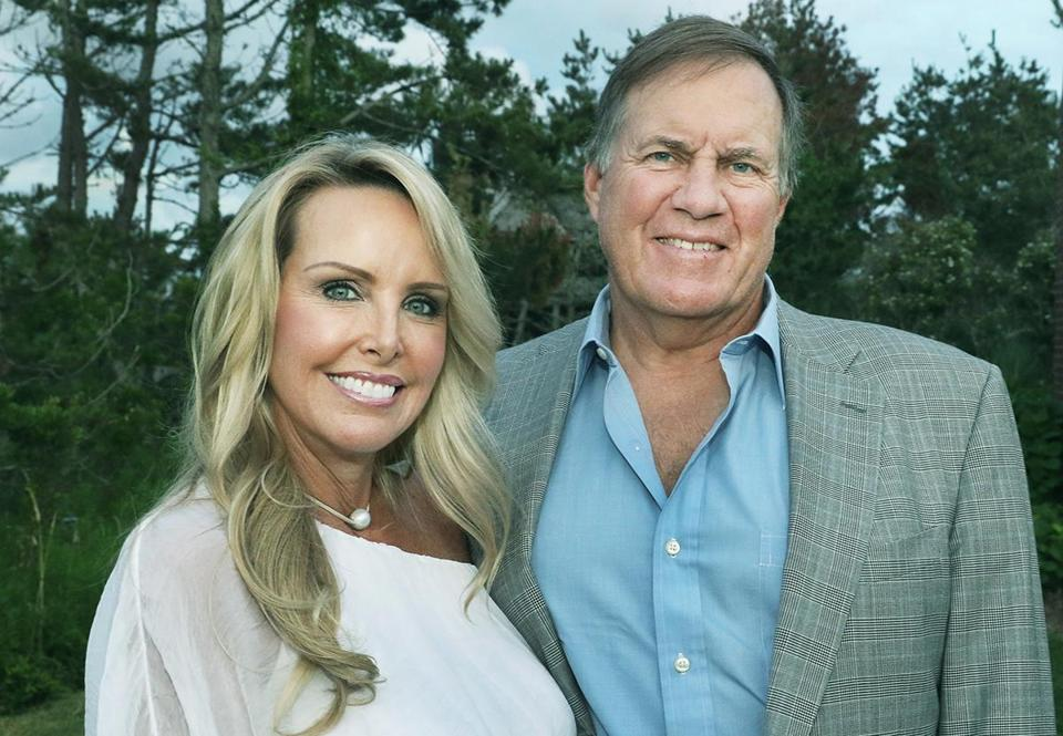 Linda Holliday and Bill Belichick.